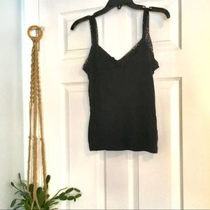 Lace Trimmed Camisole Tank Top for Layering
